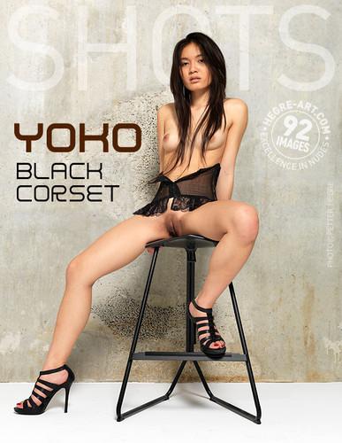 Hegre-Art- Yoko - Black Corset